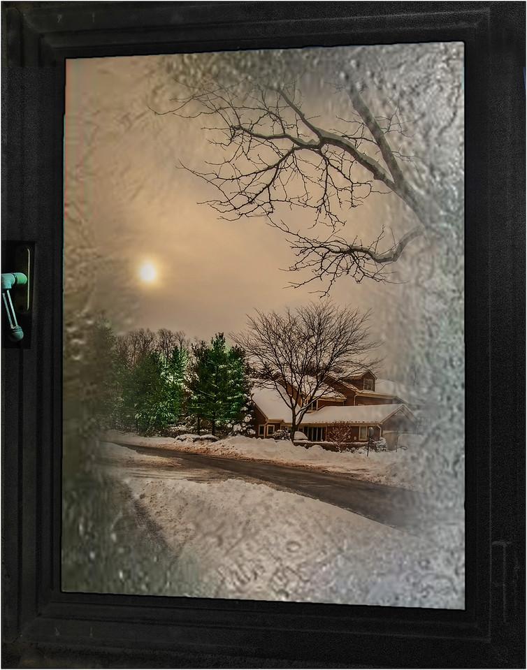 1. Winter Sunset Through My Window