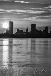 Sunrise Along the Arkansas, Tulsa, Oklahoma