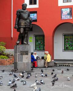 Confab at the Square, Quito, Ecuador