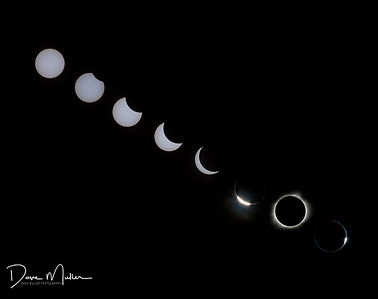 August 21 Total Solar  Eclipse Composite, Leasburg, Missouri