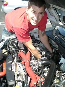 Adam, hugging a big turbo