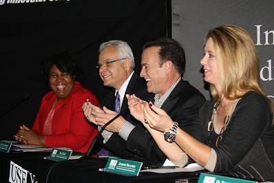 Finalist judges (left to right) Joyce Ward, Paul Sanberg, Bill Green and Jenn Holloway
