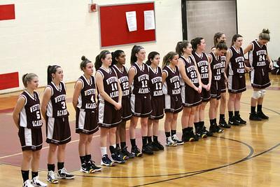 W.A GIRLS VAR B.B. @ WALTHAM #1  1-17-2012