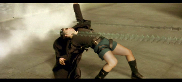 """Contest Name: """"Where are my pants?""""<br /> <br /> This is a scene from Matrix where Neo is dodging bullets."""