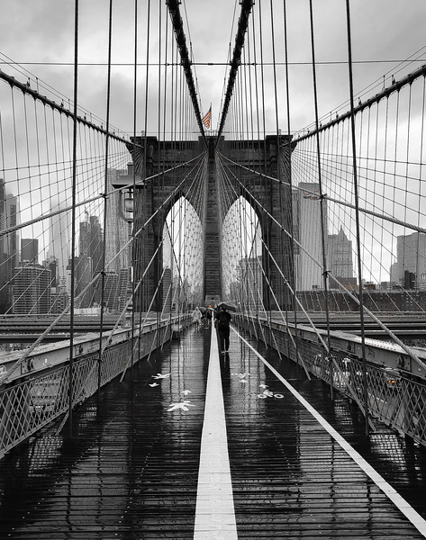 Honorable Mention (B)Brooklyn Bridge In Raining Day 摄影:789