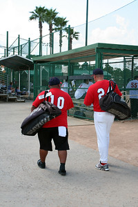 Chano and Felix getting ready for the 1st game.