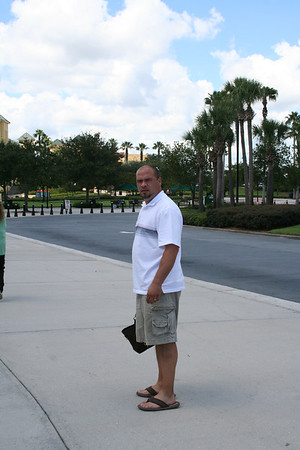 Entering Disney\'s Wide World of Sports Complex on the first day.