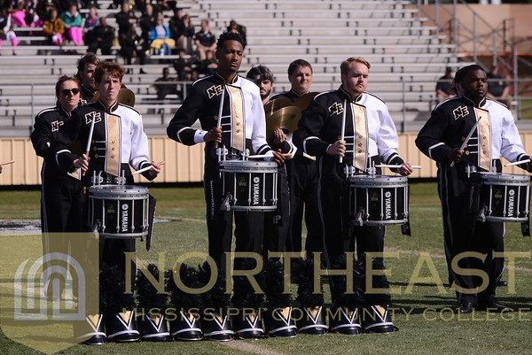 2014-10-04 BAND  Dixie Marching Band Northeast Percussion