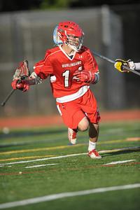Menlo Atherton High School Varsity Men Lacrosse vs. Burlingame High, 2013-04-12