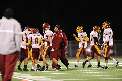 Menlo Atherton High School Varsity Football vs. Burlingame High School 2011-10-06
