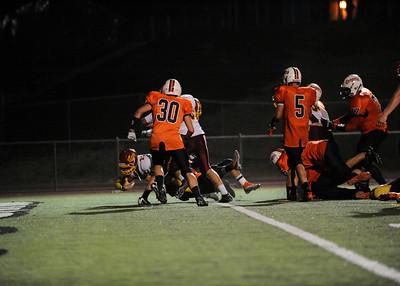Menlo Atherton High School Varsity Football vs. Half Moon Bay High School 2011-09-23