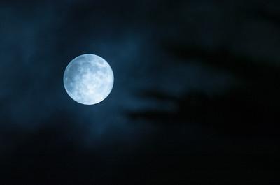Blue Moon over South San Francisco High School, 2012-08-31