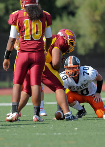 Menlo Atherton High School vs. Los Gatos High, Varsity Football, 2011-09-10
