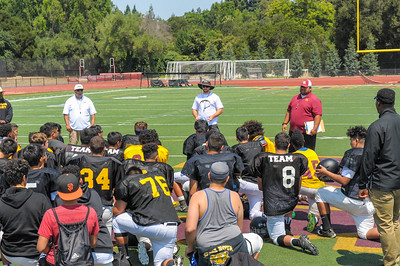 M-A, Wilcox and Terra Nova Freshman 2017 Football Scrimmage at Menlo-Atherton High.