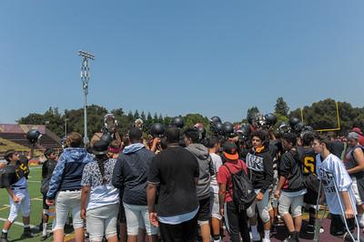 M-A, Wilcox and Terra Nova Freshman 2017 Football Scrimmage at Menlo-Atherton High.