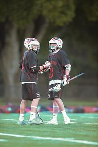 Menlo-Atherton High School Boys Junior Varsity  Lacrosse vs. Monte Vista Mustang, March 11, 2014
