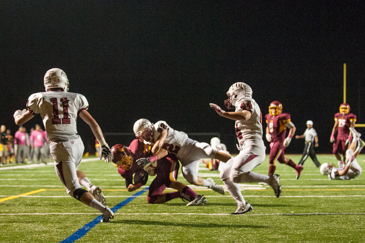 Menlo Atherton Varsity Football vs. Sacred Heart Prep,2013-10-18