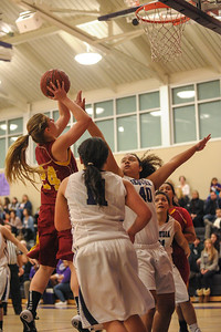 Menlo-Atherton High Varsity Girl's Basketball vs. Sequoia High, 2014-01-31