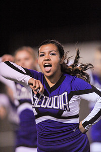 Sequoia High Cheer at Homecoming 2013-10-25