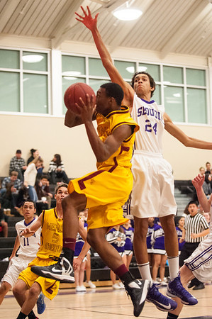 Sequoia High Varsity Mens Basketball vs. Menlo Atherton 2013-01-11