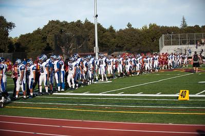 Menlo Atherton High  Bears Varsity Football vs. South San Francisco High School 2012-09-21