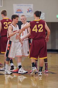 Woodside Men's Varsity Basketball vs. Menlo Atherton High, 2013-01-25