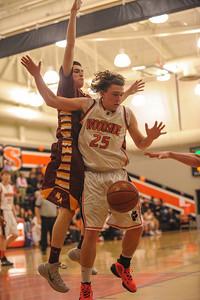 Menlo-Atherton High Varsity Boy's Basketball vs.  Woodside High, 2014-02-07