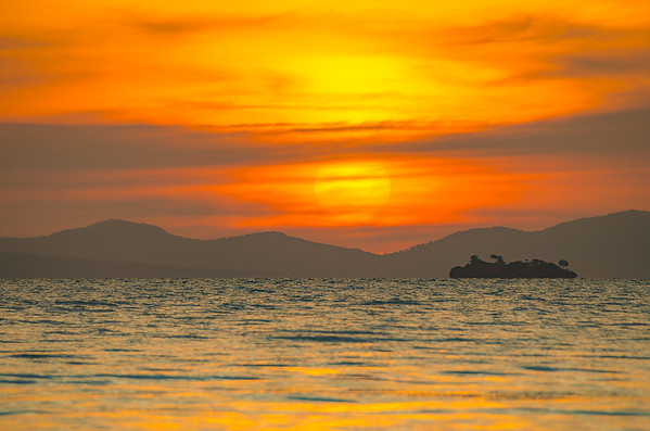 Sunset over Vietnam
