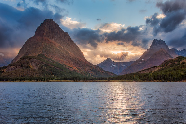 Swiftcurrent Lake & Grinnell Point