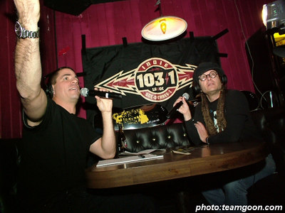 Joe Sib and Keith Morris of Circle Jerks - Complete Control Night at The Scene in Glendale, CA - December 8, 2005
