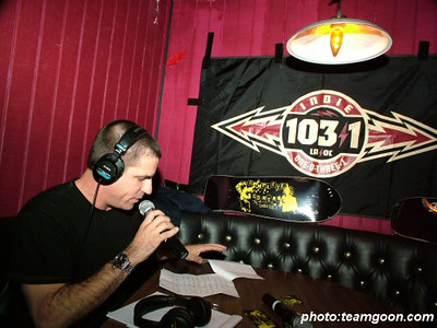 Joe Sib on the air - Complete Control Night at The Scene in Glendale, CA - December 8, 2005