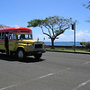 Local transport, Samoa. Largest bus company on the island. Credit: New Zealand Ministry of Foreign Affairs and Trade