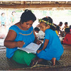 Primary school teacher and student, Kiribati. Credit: New Zealand Ministry of Foreign Affairs and Trade