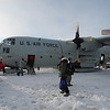 Landing on the ice. Prime Minister John Key's trip to Antarctica, Jan 2013. Credit New Zealand Ministry of Foreign Affairs and Trade