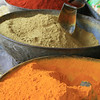 The bright colours of spices being sold at a market, Jodhpur, India. Credit: Felicity Roxburgh