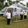 New Zealand Aid Programme funded helicopter in Sirombu, Indonesia. Credit: New Zealand Ministry of Foreign Affairs and Trade