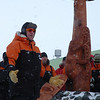 Ceremony to install a pou whenua at Scott Base during Prime Minister John Key's visit to Antarctica, Jan 2013. Credit New Zealand Ministry of Foreign Affairs and Trade