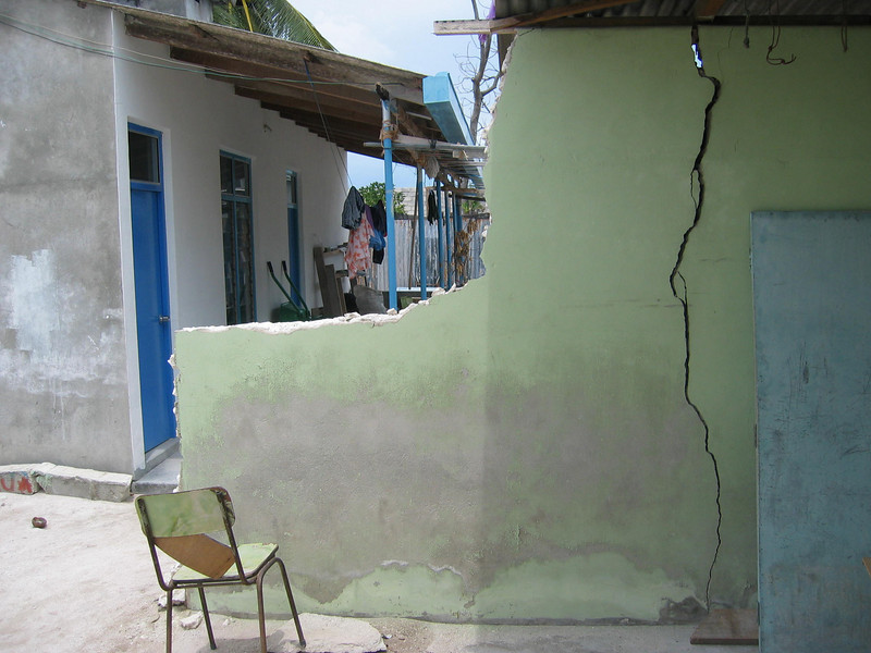 Damage caused in the Maldives by the Asian Tsunami, Boxing Day 2004. Credit: Red Cross