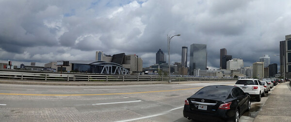 Downtown Atlanta from MLK bridge