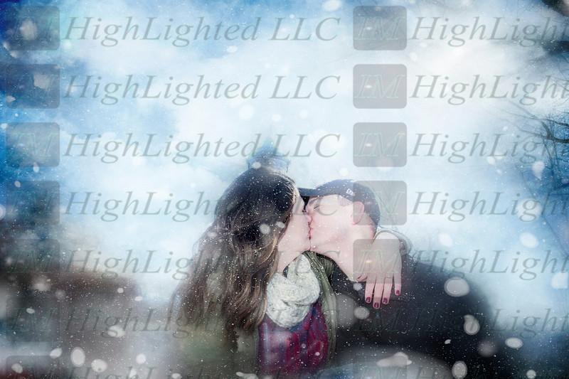 Hope and Eric Kissing Skies