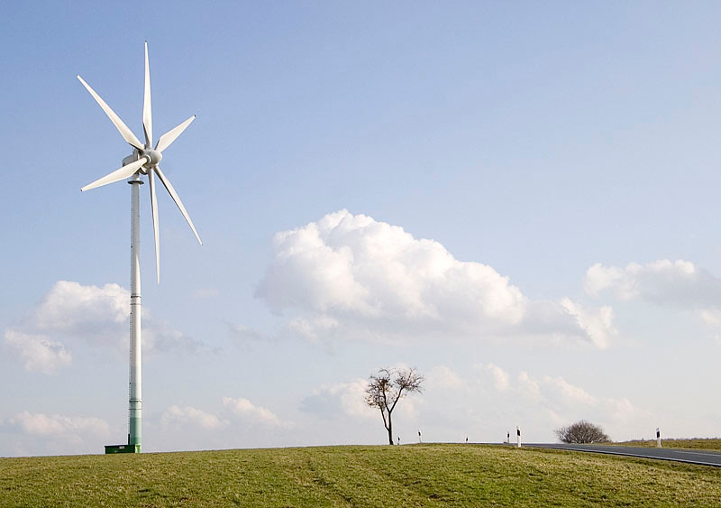 Windmill with landscape