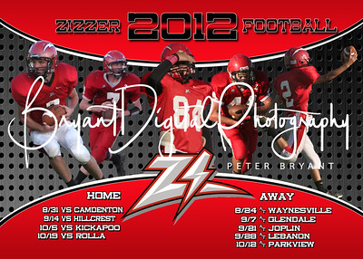 2012 Zizzer Football Schedule