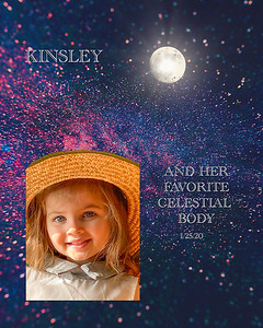 KINSLEY AND HER FAVORITE CELESTIAL OBJECT!!!