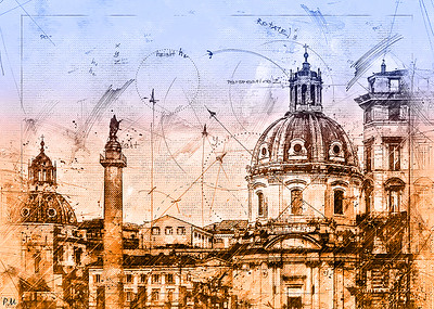Blue Prints From Rome