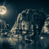 Sailboats in Moonlight