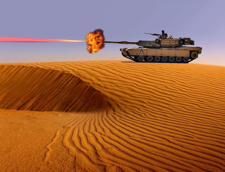 Tank shot