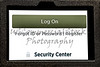 Tablet Screen open to Secure Log In to Web Page