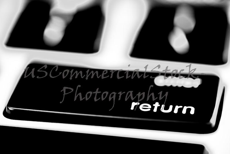 Computer keyboard merchandise sales RETURN policy button
