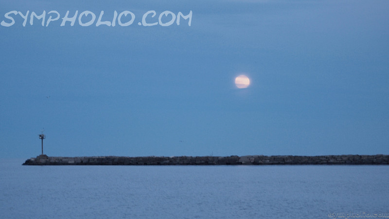 Wolf Moon Howling Over Lake Erie