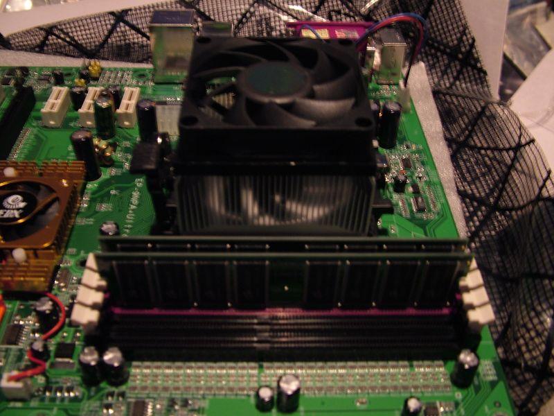 Proc, heat sync and memory